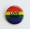 Rainbow Button LOVE WINS
