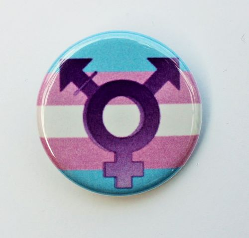 Small Transgender Button with symbol
